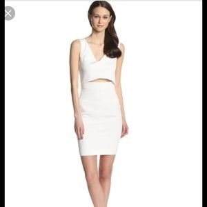 French connection white cut out dress size 4